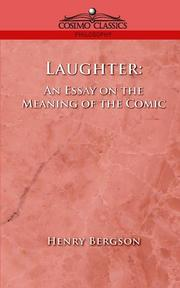 Cover of: Laughter | Henri Bergson