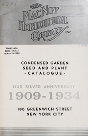 Cover of: Condensed garden seed and plant catalogue | MacNiff Horticultural Company