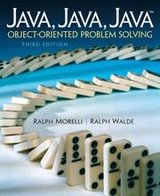 Cover of: Java, Java, Java, Object-Oriented Problem Solving (3rd Edition) | Ralph Morelli