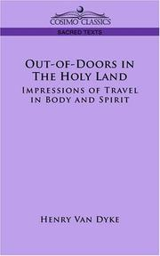 Cover of: Out-of-Doors in the Holy Land