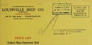 Gold medal field seeds, the sure growing kind by Louisville Seed Company