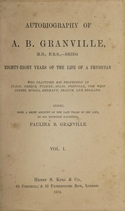 Cover of: Autobiography of A.B. Granville | A. B. Granville