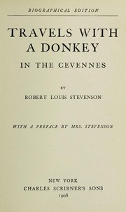 Cover of: Travels with a donkey in the Cevennes | Robert Louis Stevenson