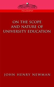 Cover of: On the Scope of University Education | John Henry Newman