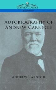 Cover of: Autobiography of Andrew Carnegie (Cosimo Classics Biography)