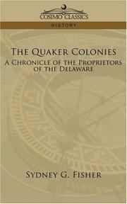 Cover of: The Quaker Colonies