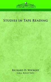 Cover of: Studies in Tape Reading | Richard D. Wyckoff