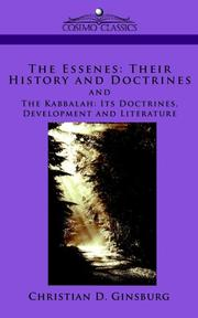Cover of: The Essenes: Their History and Doctrines and The Kabbalah