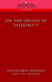 Cover of: On the Origin of Inequality | Jean-Jacques Rousseau
