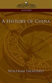 Cover of: A History of China (Cosimo Classics History)