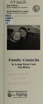 Cover of: Family councils in long-term care facilities | Illinois. Department on Aging