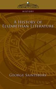 Cover of: A History of Elizabethan Literature (Cosimo Classics History)