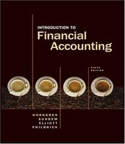Cover of: Introduction to Financial Accounting (9th Edition) (Charles T Horngren Series in Accounting) | Charles T. Horngren
