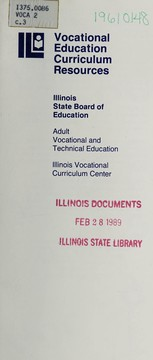 Cover of: Vocational education curriculum resources | Illinois. Department of Adult, Vocational, and Technical Education