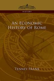 Cover of: An economic history of Rome