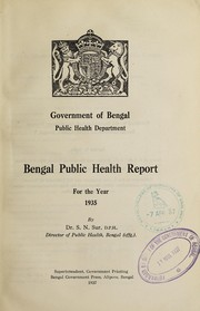 Cover of: Bengal public health report | Bengal (India). Public Health Department