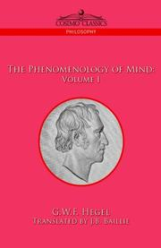 Cover of: The Phenomenology of Mind |