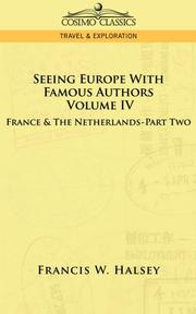 Cover of: Seeing Europe With Famous Authors | Francis, W. Halsey