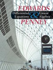Differential Equations and Linear Algebra (2nd Edition) by Henry Edwards, David E. Penney
