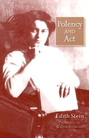 Cover of: Potency and act | Edith Stein
