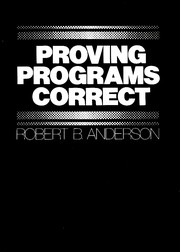 Cover of: Proving programs correct | Robert Brockett Anderson