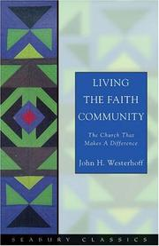 Cover of: Living the faith community