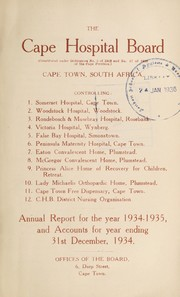 Annual report of the Cape Hospital Board, Cape Town