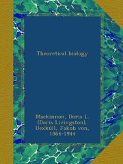 Cover of: Theoretical biology