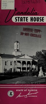 Cover of: Vandalia State House | Illinois. Department of Public Works and Buildings