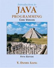 Cover of: Introduction to Java Programming Core Vision