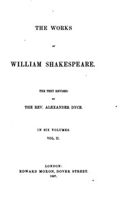 Cover of: The Works of William Shakespeare in Six Volumes | William Shakespeare