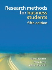 Cover of: Research methods for business students | Mark Saunders