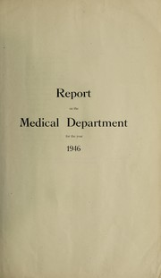 Cover of: Report on the Medical and Sanitary Departments | Gold Coast. Medical Department