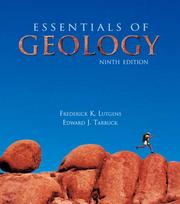 Cover of: Essentials of geology