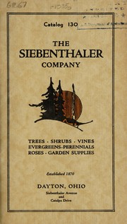 Cover of: Catalogue 130 | Siebenthaler Company