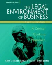 Cover of: The legal environment of business
