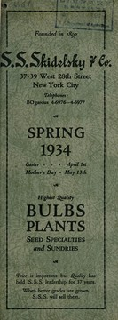 Cover of: Spring, 1934 | S.S. Skidelsky & Co