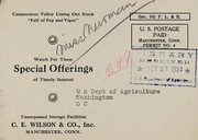 Cover of: Special offerings | C.E. Wilson & Co., Inc
