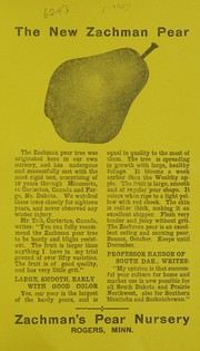Cover of: The new Zachman pear | Zachman