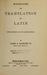 Cover of: Exercises for translation into Latin | Peter Joseph MГјller