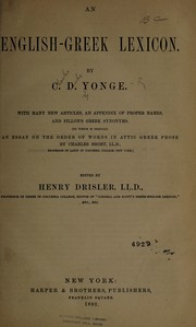 Cover of: An English-Greek lexicon | Charles Duke Yonge