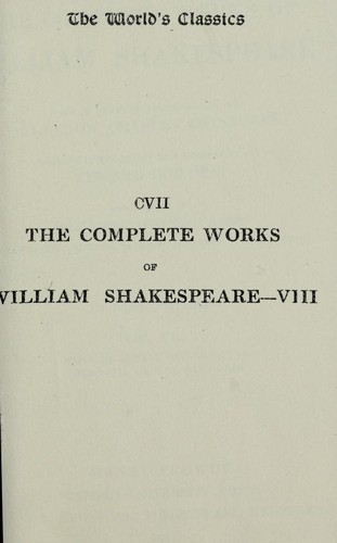 Timon of Athens, Julius Caesar, Macbeth, Hamlet, King Lear by with a general introduction by Algernon Charles Swinburne, introductory studies of the several plays by Edward Dowden and a note by Theodore Watts-Dunton upon the special typographical features of this edition