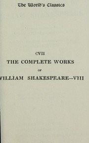 Cover of: Timon of Athens, Julius Caesar, Macbeth, Hamlet, King Lear by with a general introduction by Algernon Charles Swinburne, introductory studies of the several plays by Edward Dowden and a note by Theodore Watts-Dunton upon the special typographical features of this edition