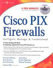 Cover of: Cisco Pix firewalls |