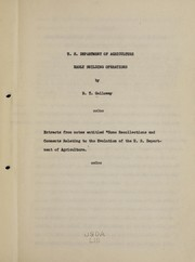 Cover of: U.S. Department of agriculture early building operations | United States. Bureau of Plant Industry