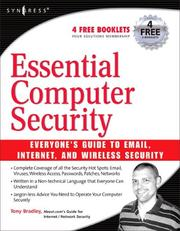 Essential Computer Security by Tony Bradley