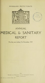 Annual medical & sanitary report for the year ended