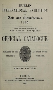 Cover of: Official catalogue. | Dublin. 1865.