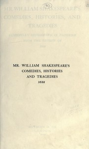 Cover of: Mr. William Shakespeare