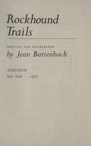 Cover of: Rockhound trails | Jean Bartenbach